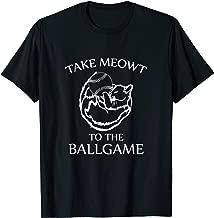 Baseball Cat Shirt Take Meowt To the Ballgame T-Shirt