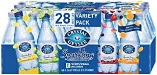 Sponsored Ad - Crystal Geyser Variety Pack, 4 Flavors, Sparkling Spring Water PET Plastic Bottles, No Artificial Ingredien...
