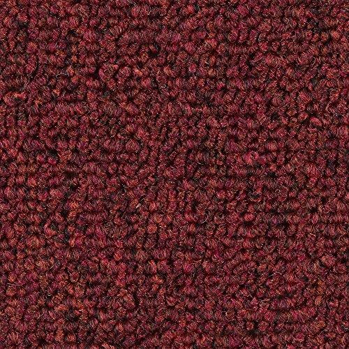 Teppichboden Auslegware | Schlinge gemustert | 400 und 500 cm Breite | rot | Meterware, verschiedene Größen | Größe: 3,5 x 4m