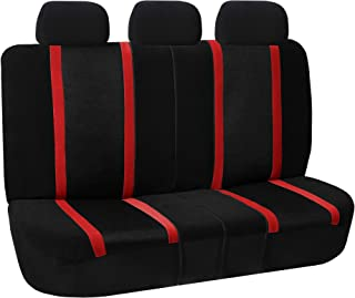 FH Group FB070013 Sports Seat Covers (Red) Rear Set – Universal Fit for Cars Trucks & SUVs