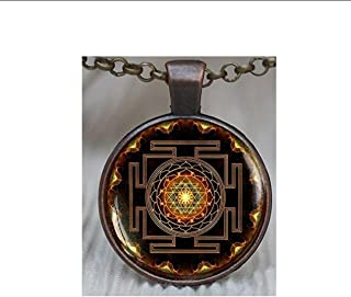 Sri yantra pendant, Sacred geometry jewelry, Sri yantra jewelry, Jewelry for men, necklace for men, Sri yantra necklace, Buddhist