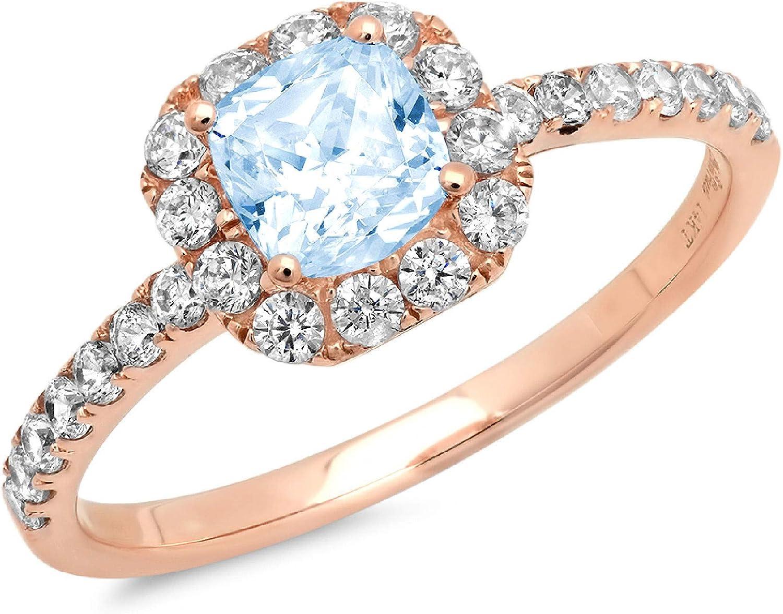 1 year warranty Clara Pucci 1.5 Brilliant Princess Stunning Solitaire Dallas Mall Cut Accent