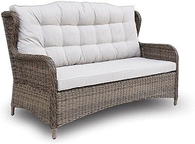 FurnitureOkay Rye Wicker Outdoor Lounge Sofa (3-Seater) Patio Furniture