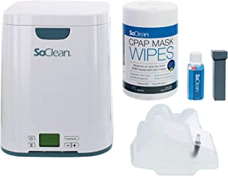 SoClean 2 CPAP Cleaner and Sanitizing Machine with AirSense 10 Adapter and Mask Wipes; with bonus generic CPAP Hose and CPAP Filters
