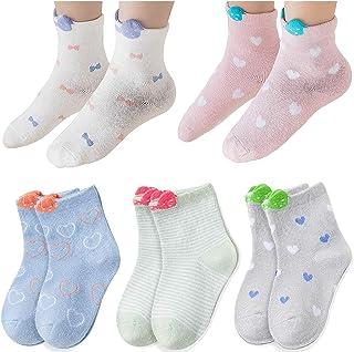 5 Pares Chica Tripulación Calcetines Algodón Cálido Niñas Pequeño Calcetines
