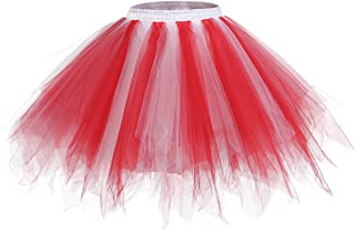 Bridesmay Women's Tutu Halloween Tulle Skirt 50s Vintage Ballet Bubble Dance Skirts