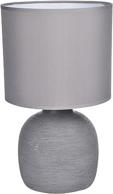HOMEA 6LCE086GR LAMPE, CERAMIQUE, 40 W, GRIS, L.19l.19H.33CM