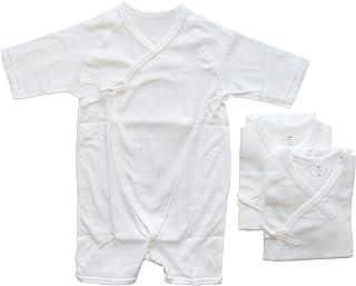 3枚組 新生児 コンビ肌着 フライス地