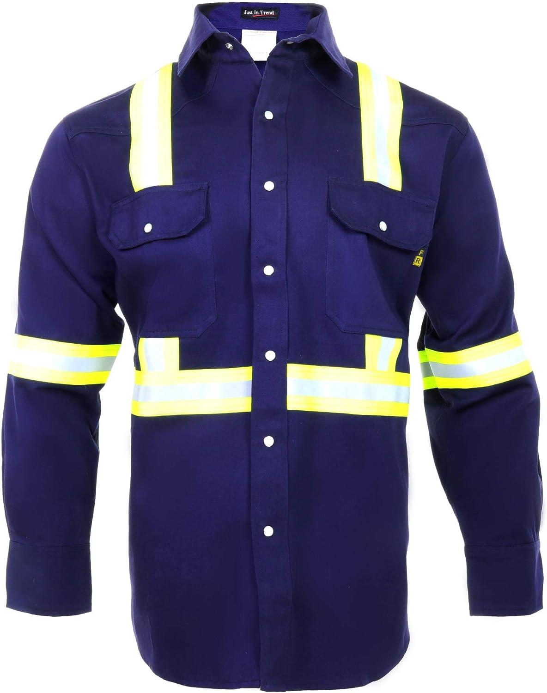 Flame Resistant High Visibility Hi Vis Quality inspection FR C oz Shirt - 7 100% Max 54% OFF
