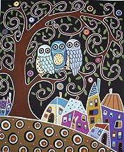 Three Owls by Karla Gerard Art Print, 8 x 10 inches