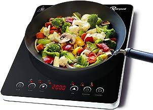 Plaque à induction, plaque de cuisson à induction simple, 9 Niveaux Table de Cuisson, avec commande par capteur et verrou ...