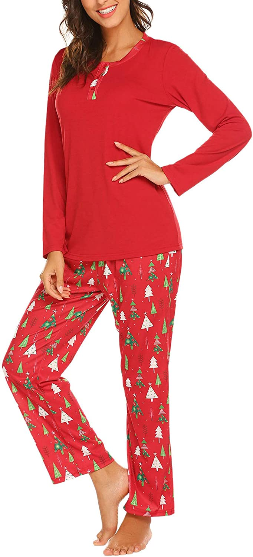 New products, world's highest quality popular! Ekouaer Christmas Pjs for Women 2 Soft Pajama Long Sleeve Choice Piece