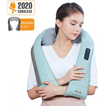 Cordless Neck /& Shoulder Shiatsu Donnerberg Massager with Rechargeable battery