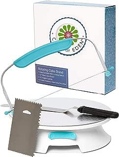 ForeverSmooth Cake Turntable Stand- Sturdiest Rotating Cake Leveler & Slicer...