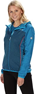 Regatta Women's Haska Hybrid Water Repellent Wind Resistant Long Length Softshell Jacket Soft Shell, Petrol Blue/Petrol Bl...