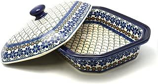 Polish Pottery Baker - Rectangular Covered - Large - Primrose