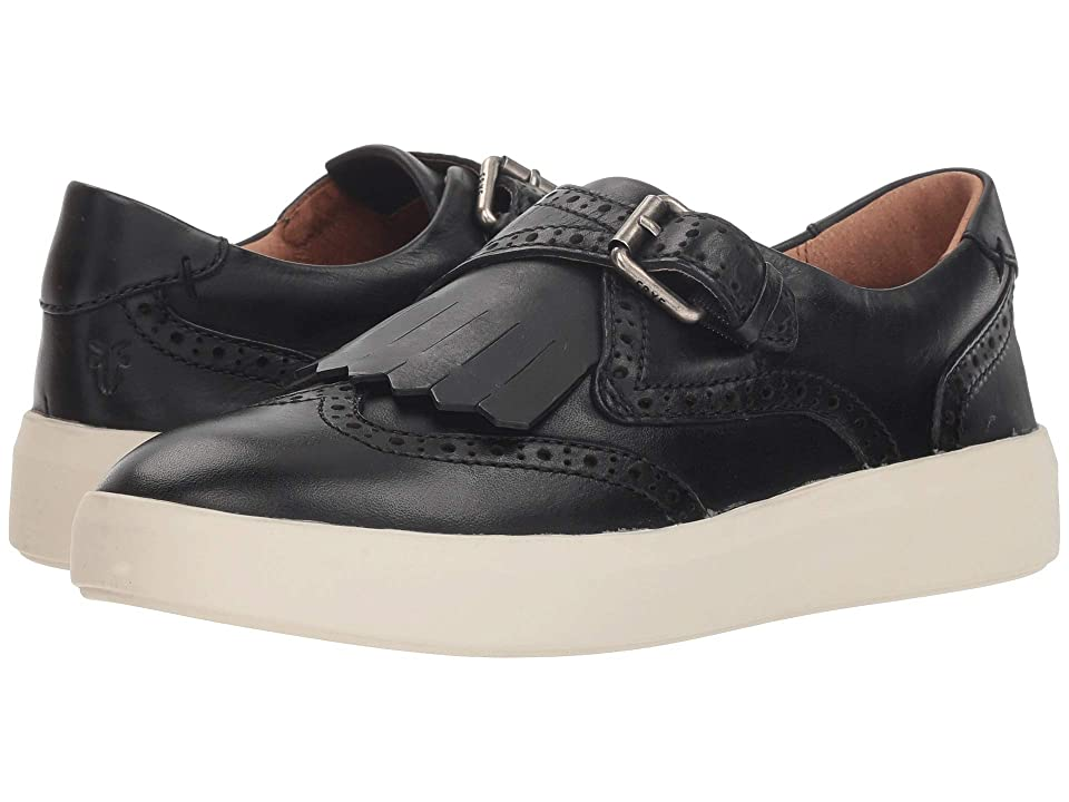 Frye Brea Kiltie (Black Washed Antique Pull-Up) Women