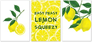"SCENE: YOURSELF Lemon Kitchen decor, Lemon Decor, Lemon Wall Decor, 11.7"" x.."