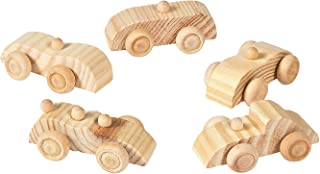 Wooden Car Assortment Toy Vehicle Car Racers - Paint and Design Your Own Craft - 12 Pieces