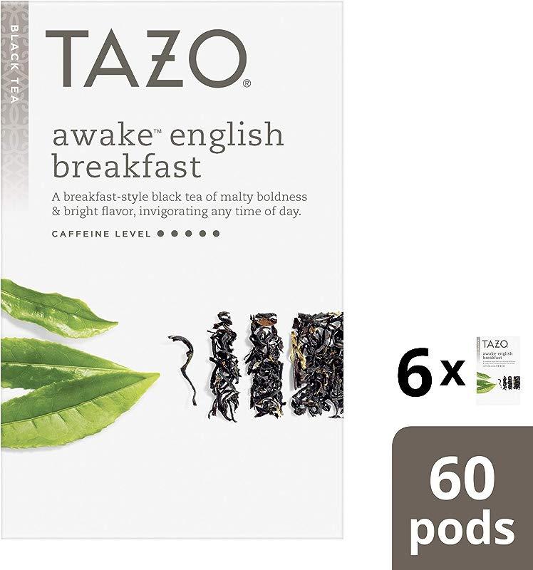 Tazo Tea K Cup Awake English Breakfast Tea 10 Count Pack Of 6