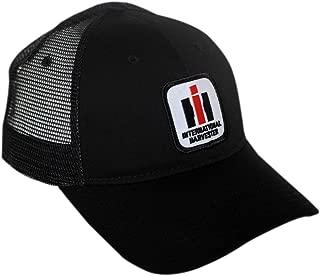 International Harvester IH Logo Hat, Black mesh