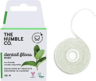 The Humble Co. Dental Floss Threaders (4pack) - Vegan, Eco Friendly, Sustainable Flossers Candelilla Waxed with Natural Xy...