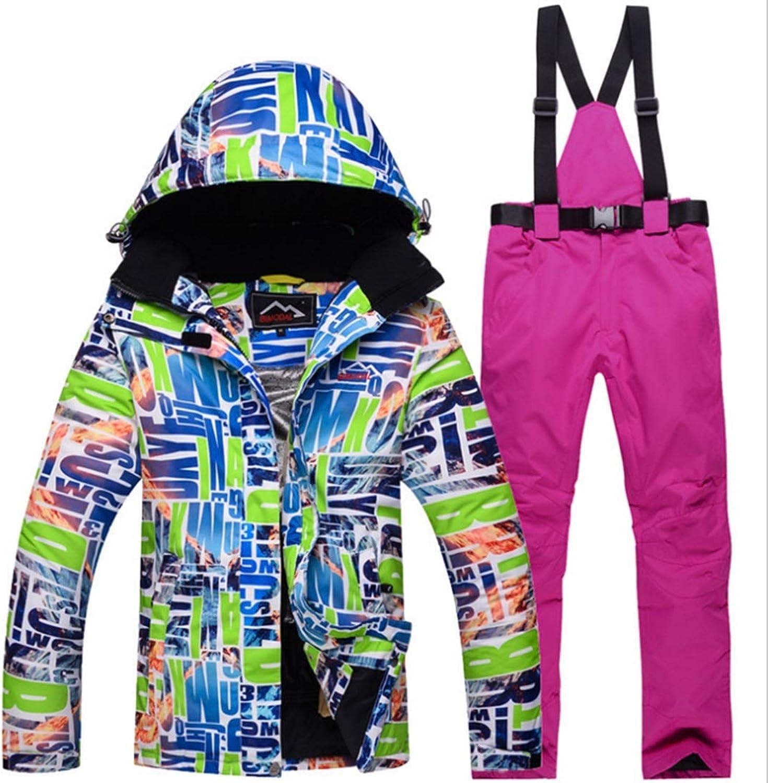 CEFULTY Womens Waterproof Ski Jacket and Pants Set for Rain Snow