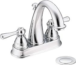 Moen 6121 Kingsley Two-Handle High Arc Centerset Bathroom Faucet, Chrome