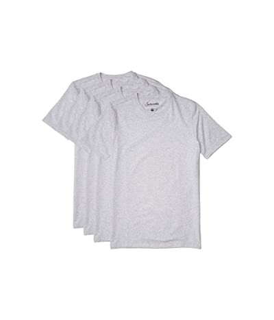 PACT Stretch-Fit Crew Undershirt 4-Pack (Heather Grey) Men