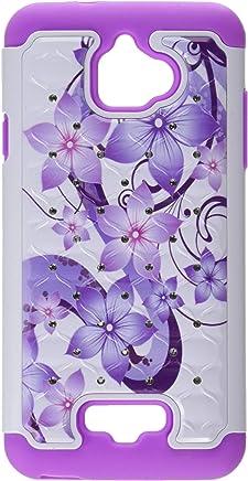 Asmyna teléfono Celular para Coolpad Catalizador–púrpura Flor de Hibisco