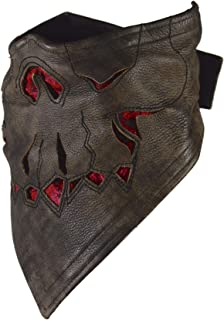 Motorcycle Mask Leather Half Face - Protection from Rain, Wind, UV, Cold, Dust