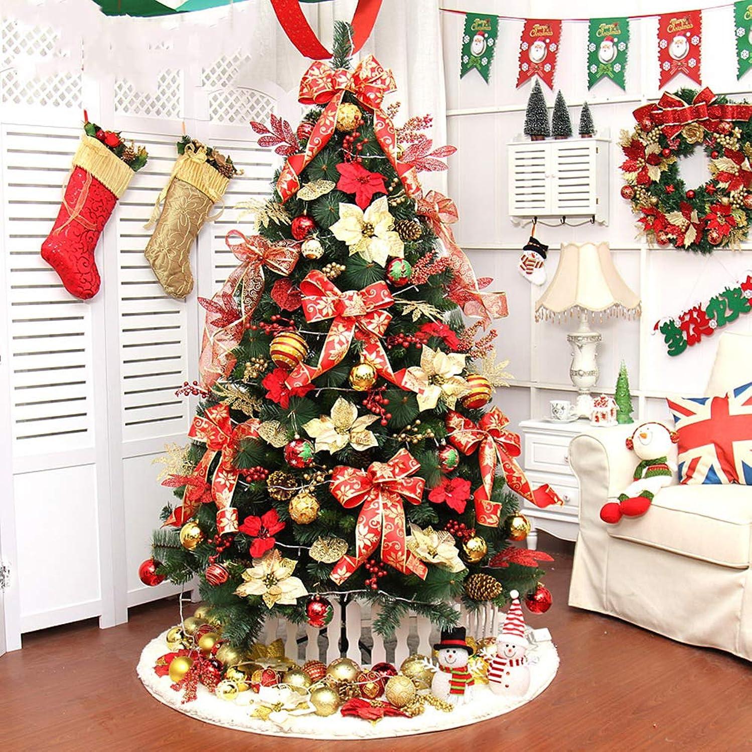 サービス軍南方の装飾 グリーン クリスマスツリー LEDライト付き 金属製スタンド 装飾品 ヒンジ 人工 クリスマス 伝統的です 屋内 休日- 150cm(59inch)