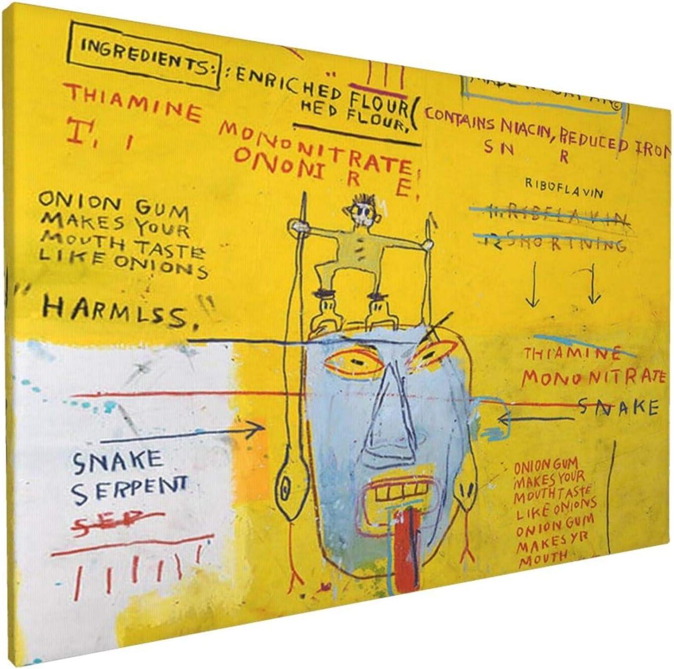 Jean Michel Basquiat Rapid rise Onion Gum Canvas Print Art Poster For Wall Popular overseas