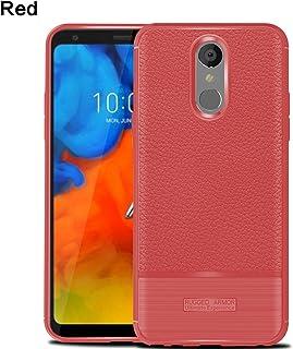 LG Q Stylus Alpha シェル, MeetJP 保護する 衝撃吸収 保護する バンパーバック カバー, Red