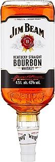 Jim Beam White Kentucky Straight Bourbon Whiskey, vollmundiger und milder Geschmack, 40% Vol, 1 x 4,5l