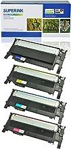 SuperInk 4 Pack Compatible CLT-K406S CLT-C406S CLT-Y406S CLT-M406S CLT-406S Toner Cartridge Set for Samsung CLP-360 CLP-365 CLX-3300 SL-C410W Xpress C460W Printer (1 Black,1 Cyan,1 Yellow,1 Magenta)
