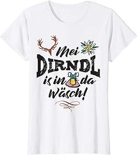 Mei Dirndl is in da Wäsch Damen Mei Dirndl is in da Wäsch lustige Sprüche T-Shirt