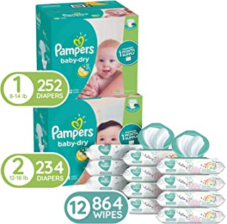 Pampers Diapers Wipes Starter Supply