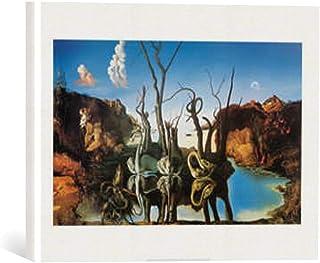 Kunst für Alle Cuadro en Lienzo: Salvador Dalí Swan Reflecting Elephants - Impresión artística, Lienzo en Bastidor, 40x30 cm