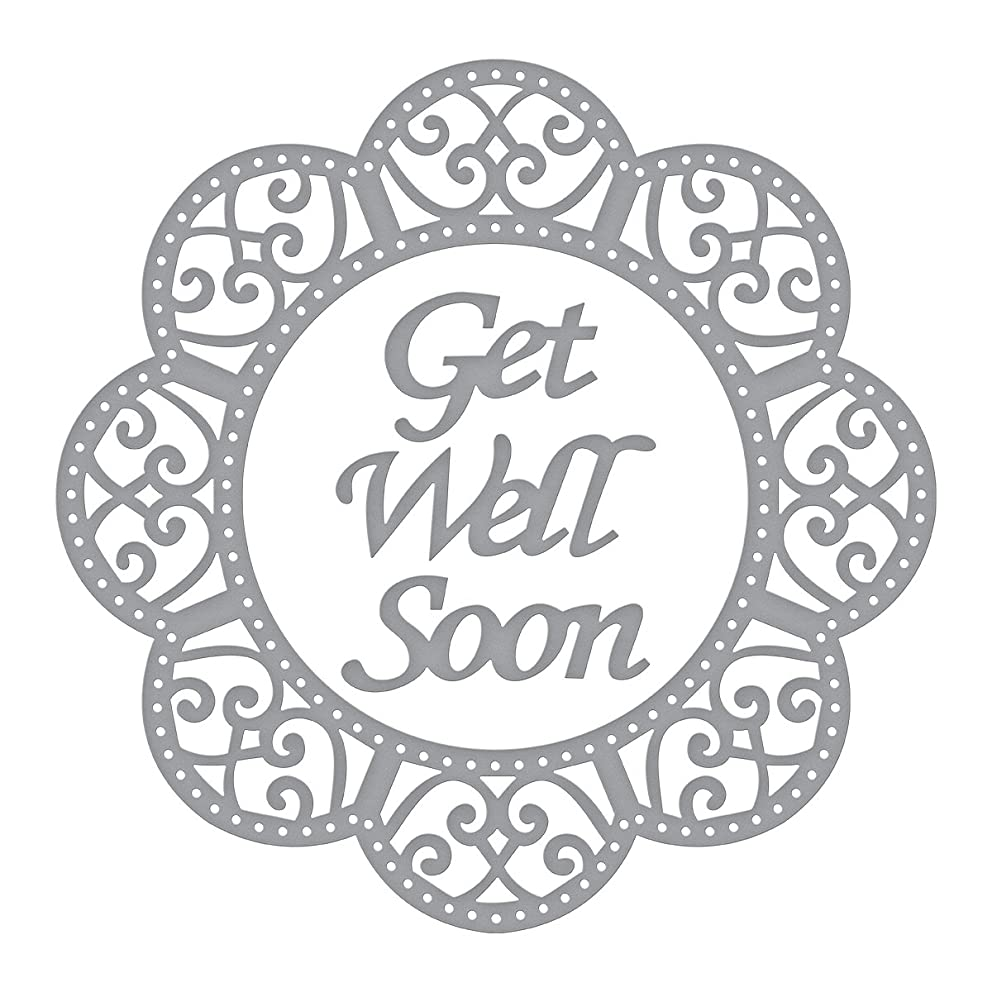 Spellbinders Shapeabilities Get Well Soon Scalloped Circle Etched/Wafer Thin Dies
