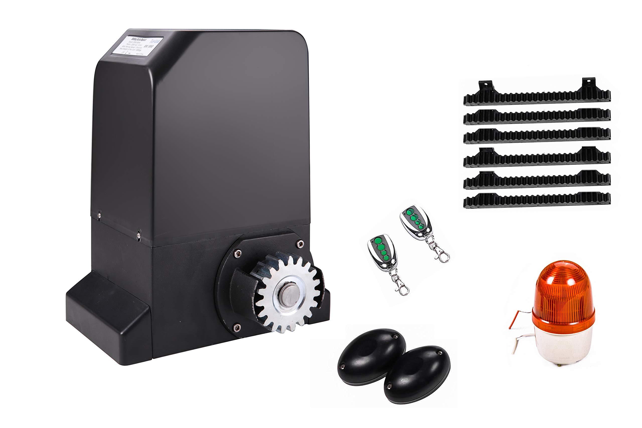 TOPENS RK990T - Abridor de puerta corredera para puerta de hasta 1000 kg de motor de puerta, 4 m de estante, fotocélula y parpadeo incluido.: Amazon.es: Bricolaje y herramientas