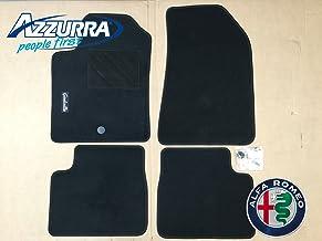 2 Anteriori + 2 Posteriori Kit Tappetini Auto Alfa Romeo 159 2005-2011 // Set di Tappeti in Moquette e Gomma su Misura Bordo Antracite // 4 Ricami Personalizzati // Colori Personalizzabili