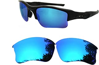 Galaxy Replacement lenses For Oakley Flak Jacket XLJ Sunglasses Polarized Ice Blue