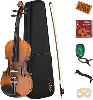 Eastar 1/4 Violin Set Fiddle for Kids Beginners Students EVA-3 Matte with Hard Case, Rosin, Shoulder Rest, Bow, and Extra ...