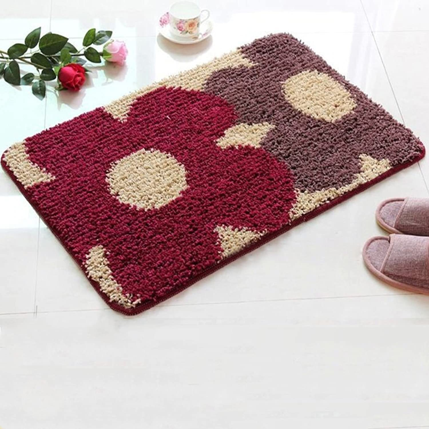 GUOSHIJITUAN Anti Slip Modern Carpet,Doormats Foot Pad for Bedroom Kitchen Hall Rugs for Bathroom Floor-C 120x140cm(47x55inch)