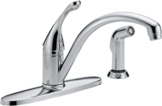 Delta Faucet Collins Single-Handle Kitchen Sink Faucet with Side Sprayer in Matching Finish, Chrome 440-DST