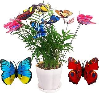 TTSAM 26pcs Butterfly Stakes,Waterproof Butterfly Stakes Garden Butterfly Ornaments,Home Decoration Outdoor Courtyard Flower Pot Flower Bed Decorative Butterfly Christmas Tree Decoration