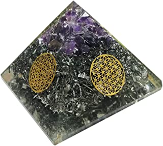 Superwave Orgone Pyramid Large Amethyst Crystal Energy Generator EMF Protection Meditation Healing (Vajra)