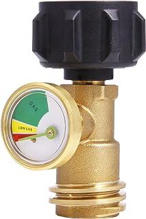 Saide Indicador de nivel de tanque de propano detector de fugas de gas Medidor de presión universal para RV Camper, barbacoa parrilla de Gas, calentador y más appliances-type 1conexión