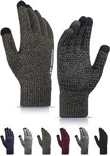 Winter Gloves Men Women Unisex Touch Screen Glove - Non-slip Grip - Elastic Cuff - Knit Warm Stretchy Material